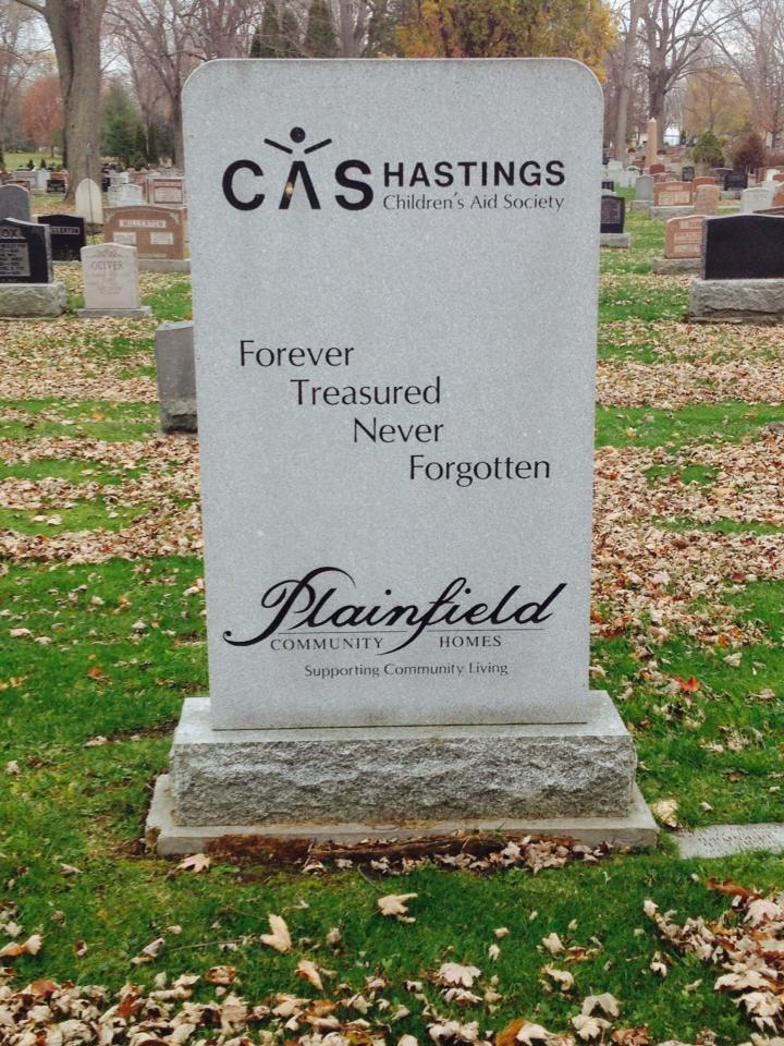 CAS Hastings, Forever treasured never forgotten, Plainfield Community Homes