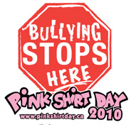 Stop bullying pink shirt day